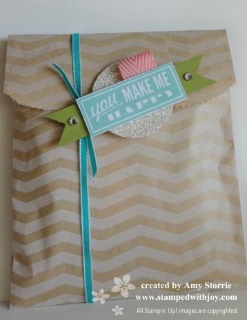 Chevron Bag of Cards