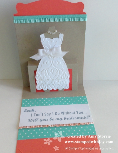 bridesmaids card inside
