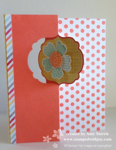 Label Thinlits Card front open