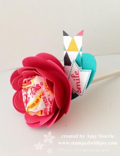 Spiral Flower Lollipop