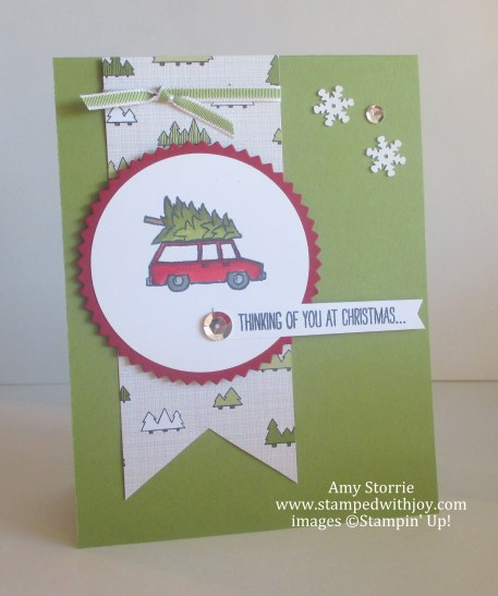 White Christmas Car