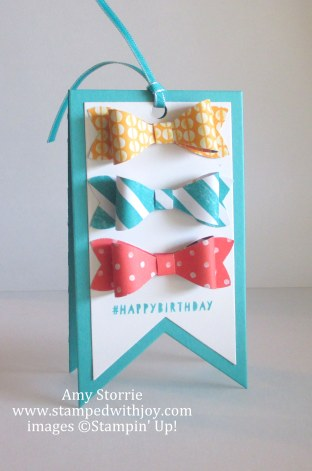Bow Birthday Tag
