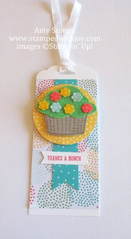 Basket of Flowers tag